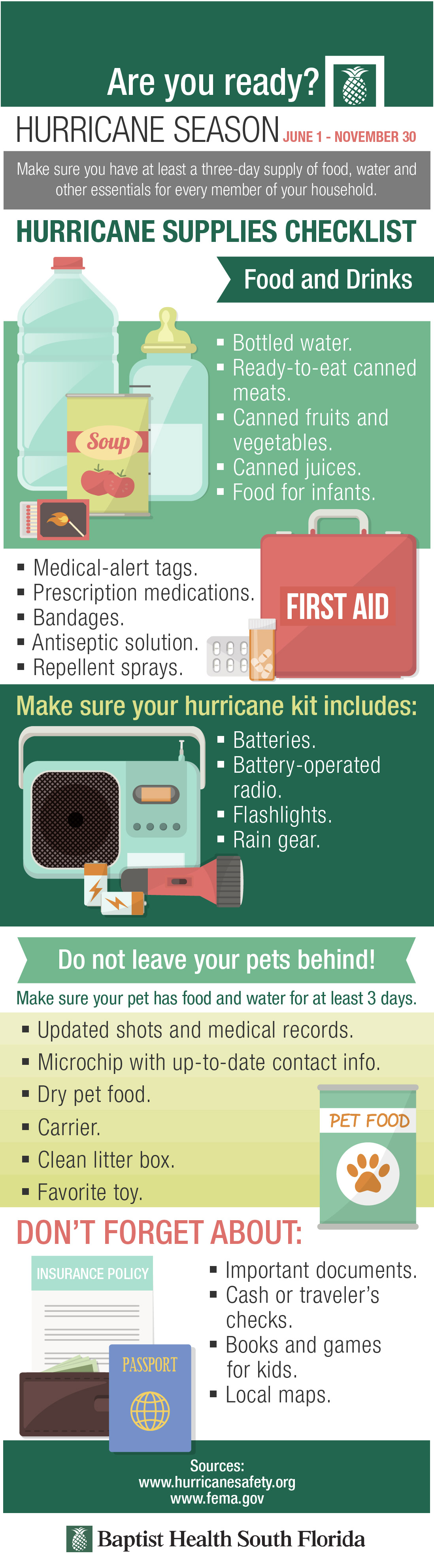 are you fully prepared? hurricane season checklist (infographic)