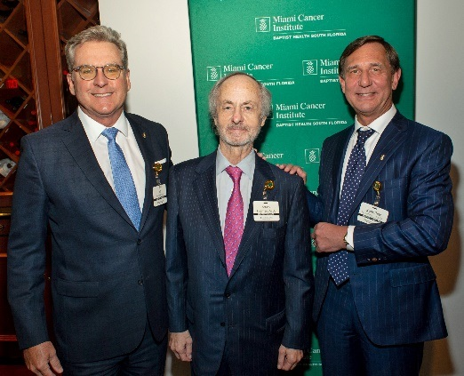 Pictured, left to right: Bo Boulenger, Executive Vice President and Chief Operating Officer at Baptist Health South Florida; and Drs. Arturo Fridman and Guenther Koehne.