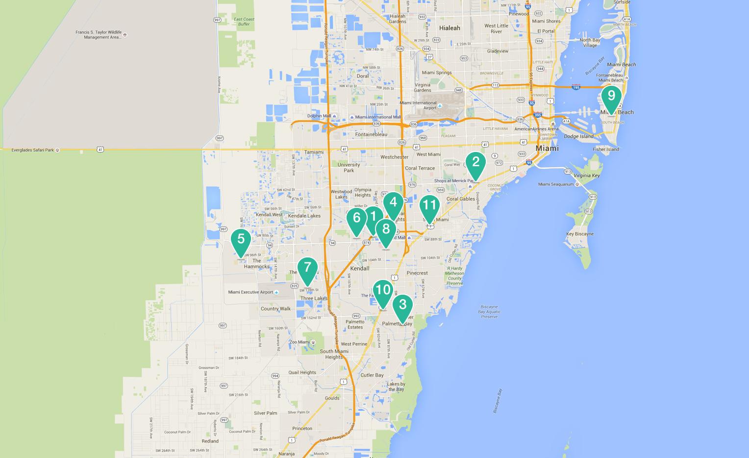 Baptist Health South Florida - Kendall florida map