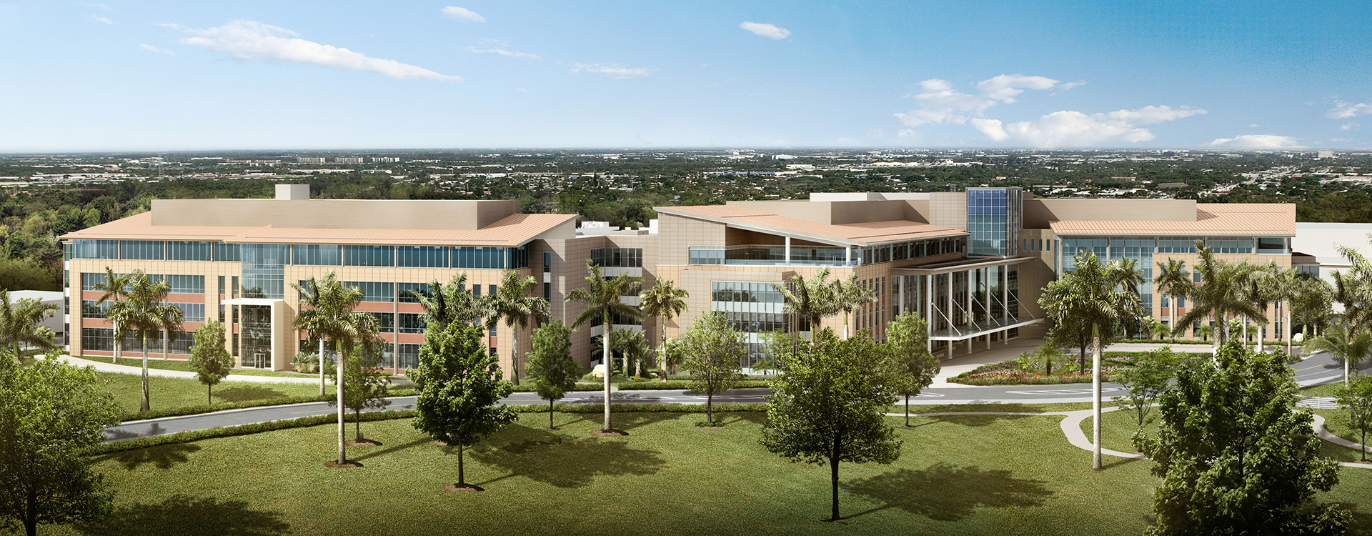 Rendering of the Miami Cancer Institute building